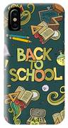 School And Education Doodles Hand Drawn IPhone X Case