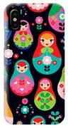 Seamless Colorful Retro Russian Doll IPhone X Case
