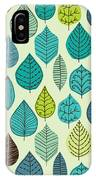 Seamless Pattern On Leaves Theme IPhone Case