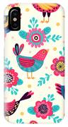 Seamless Pattern With Birds And IPhone Case