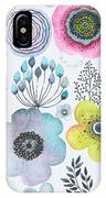 Seamless Watercolor Abstraction Floral IPhone Case