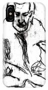Seated Man Portrait IPhone Case