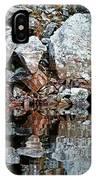 Shawanaga Rock And Reflections Vi IPhone Case