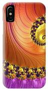 Shiny Purple And Gold Spiral IPhone Case