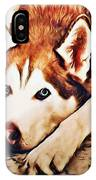 Siberian Huskies At Rest A22119 IPhone Case by Mas Art Studio