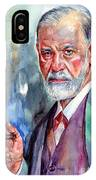 Sigmund Freud Portrait II IPhone X Case