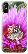 Skipper On Cactus Bloom IPhone Case