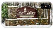 Sky Valley Georgia Welcome Sign In The Snow IPhone X Case