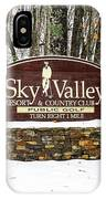 Sky Valley Georgia Welcome Sign In The Snow IPhone Case