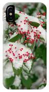 Snow Covered Winter Berries IPhone Case