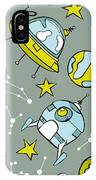 Space Print. Rocket, Flying Saucer IPhone X Case