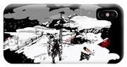 Spots In Snow In Black And White  IPhone Case
