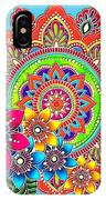 Springtime Mandala IPhone Case by Becky Herrera