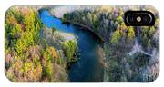 Springtime On The Manistee River Aerial IPhone X Case