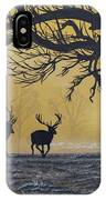 Stags At Dawn IPhone Case