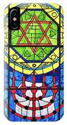 Star Of David Stained Glass IPhone Case