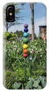 Sticks With Colorful Balls In A Garden IPhone Case