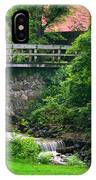 Stone Bridge And Waterfall Landscape IPhone Case