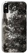 Stone Chapel - Black And White IPhone Case by Allin Sorenson