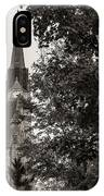 Stone Chapel - Black And White IPhone Case