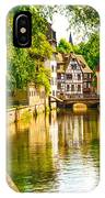 Strasbourg, Water Canal In Petite IPhone Case
