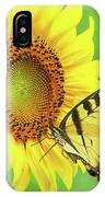 Sunflower And Swallowtail IPhone Case
