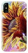 Sunflower In The Sun IPhone Case by Darren Cannell