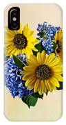 Sunflowers And Hydrangeas IPhone Case