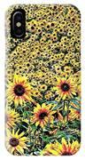 Sunflowers In Kansas IPhone Case