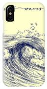 Surf Waves. Sea Waves Graphic. Ocean IPhone Case