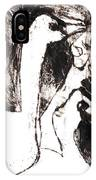 Swans After Mikhail Larionov Black Oil Painting 5 IPhone Case