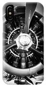 T-28b Vertical Close-up In Bw IPhone Case by Doug Camara