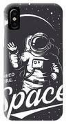 T-shirt Design Print. Space Theme IPhone X Case