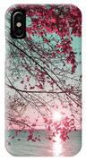 Teal And Fuchsia - Autumn Sunrise Reimagined IPhone Case