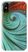 Teal And Red IPhone Case