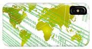 Tech Worldmap With Binary Code IPhone X Case