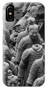Terra Cotta Warriors In Black And White, Xian, China IPhone Case