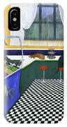 The Cat Cafe IPhone Case by Karen Zuk Rosenblatt