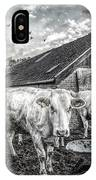 The Cows Came Home Black And White IPhone Case