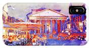 The Pantheon Rome Watercolor Streetscape IPhone Case