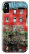 The Red House Along The Autumn Canal IPhone Case