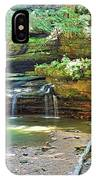 The Waterfall In Old Man's Cave Hocking Hills Ohio IPhone Case