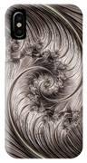 Titanium Double Fractal Spiral IPhone Case
