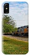 Train In Motion IPhone Case