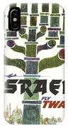 Trans World Airlines - Israel - Vintage Travel Poster IPhone Case