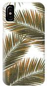 Tropical Palm Leaf Pattern 6 - Tropical Wall Art - Summer Vibes - Modern, Minimal - Brown, Copper IPhone Case