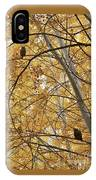 Two Owls In Autumn Tree IPhone Case