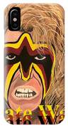 Ultimate Warrior Writing Version IPhone Case