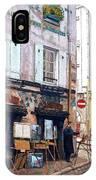 Un Artiste A La Place Du Tertre Paris. IPhone Case