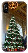 Union Station Decorates For Christmas In Kansas City IPhone Case